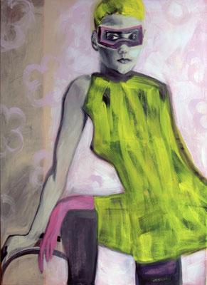 ROSE, Acryl auf Nessel, 110x80 cm, 2016