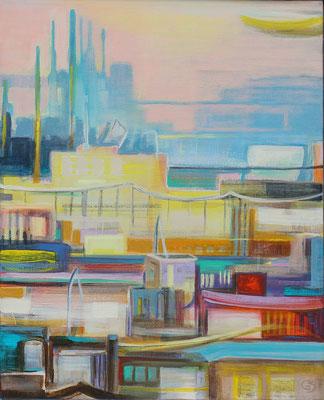 Zeitrauschen II / Acryl auf Leinwand, 50 x 40 cm, 2019
