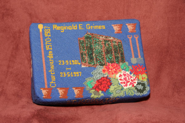 38.  Garden Design in memory of Reg Grimes (Churchwarden) (1904-1997) – worked by Bridget Garton and Rachel Gray