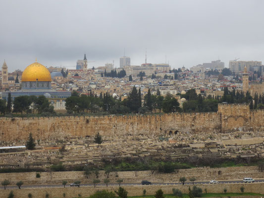The temple mount seen from the Mount of Olives
