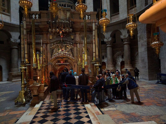 The shrine of the Holy Sepulchre