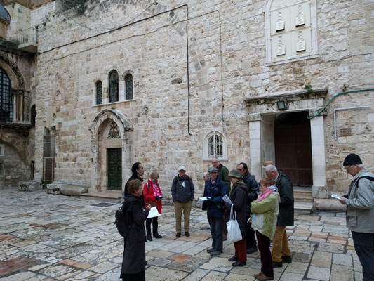 Outside the Curvh of the Holy Sepulchre
