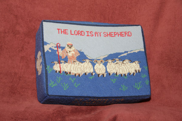 4. The Lord is my Shepherd – donated by Ruby Frost and worked by Elizabeth Walser