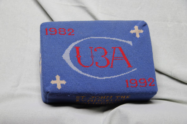 27. U3A symbol (1982-1992)  donated by them and worked by a member of U3A