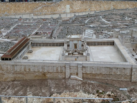 Model of 1st Century Jerusalem - the Temple Mount