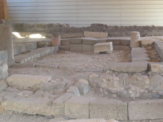 The 1st century synagogue at Magdala