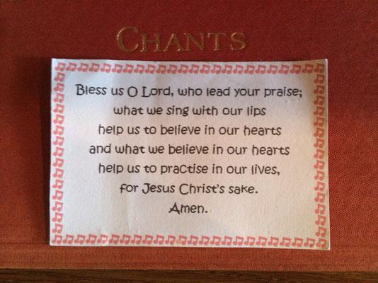 Choristers' prayer