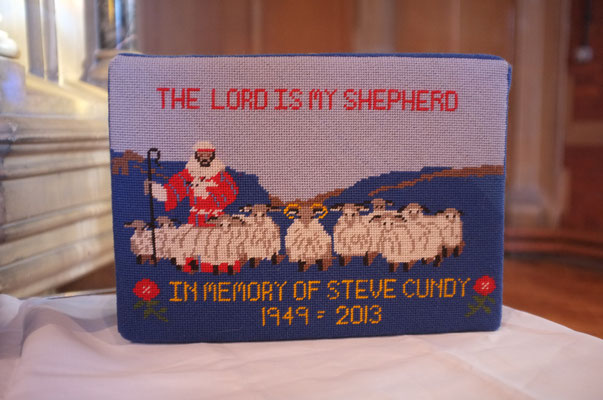 78. 'The Lord is My Shepherd' in memory of Steve Cundy 1949-2013 donated by his family and worked by Beryl Johnson
