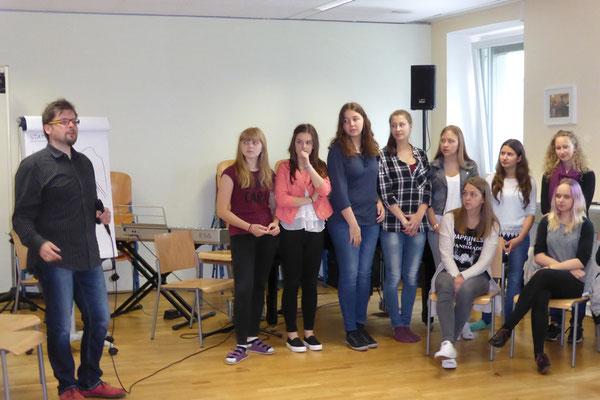 Schülerchor 1 beim Singen