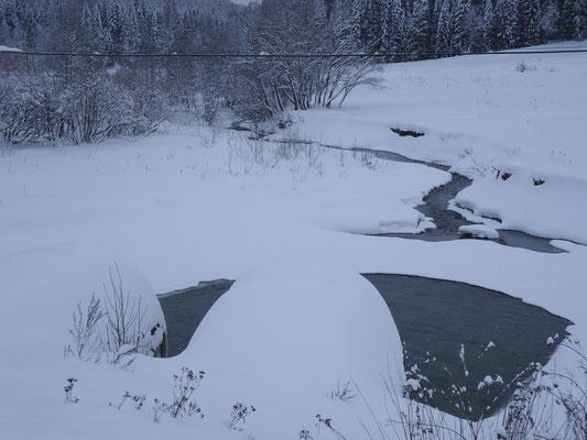Река Сиьма зимой