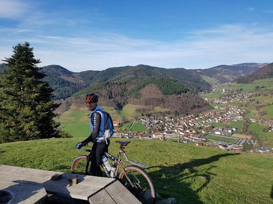 Blick vom Köpfle auf Münstertal