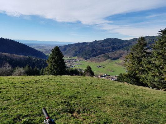 Blick vom Köpfle ins Rheintal