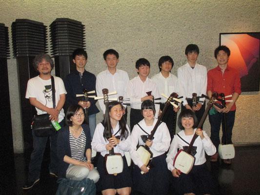 名古屋西高校のメンバーと一緒に出演しました。ロビーコンサートも盛況でした
