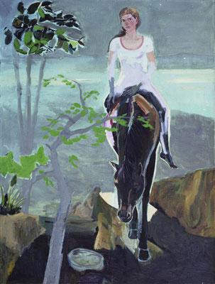 PA10 Doris auf Pferd | 130cm x 80cm