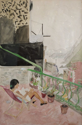 LST38 Isabel in Vernazza | 40cm x 25cm