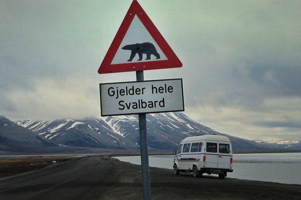 Beliebtes Fotomotiv auf Spitzbergen, Norwegen