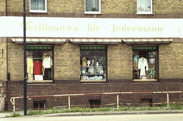 Textilladen in Sandersdorf, Deutschland