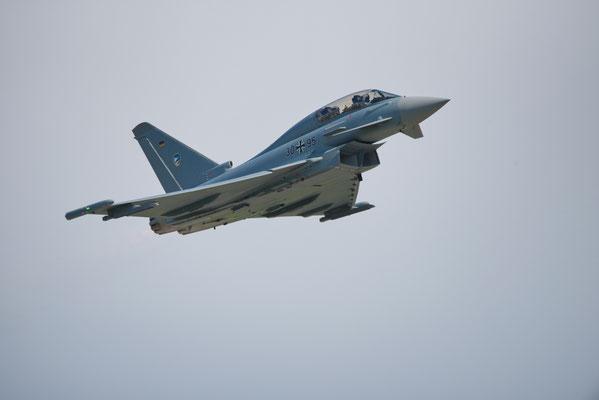 Eurofighter bei der Luftfahrtausstellung in Schönefeld