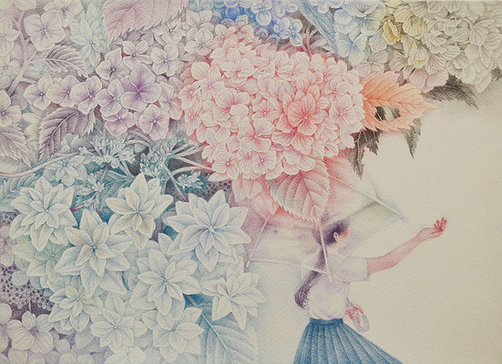 Her story-5/colored pencil on paper/333×242㎜/F4/2016