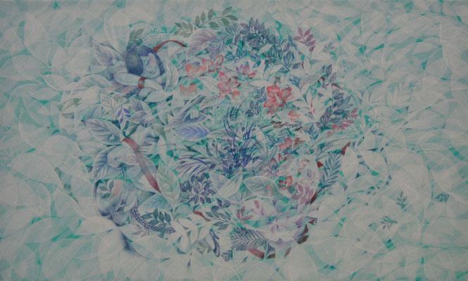 うたたね/455×273㎜ M8/acrylic,color pencil on paper