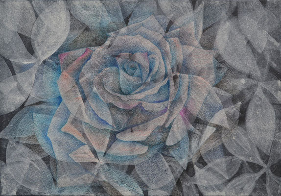 rose2/227×158㎜ SM/acrylic,color pencil on paper/2015