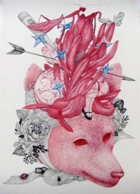 メランコリック・ロンド     333×242㎜ 色鉛筆・紙