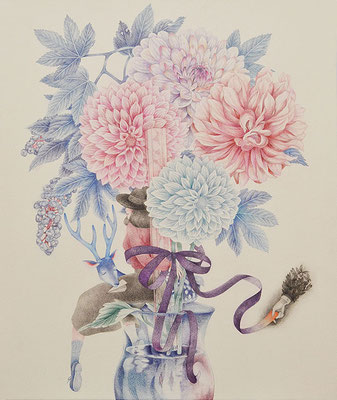 Her story-7/colored pencil on paper/455×380㎜/F8/2016