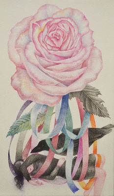 Her story-6/colored pencil on paper/273×160㎜/M3/2016