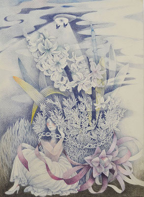 Her story-4/colored pencil on paper/333×242㎜/F4/2016