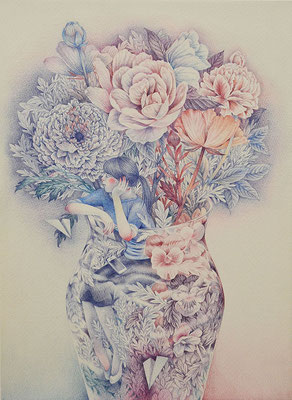Her story-3/colored pencil on paper/333×242㎜/F4/2016