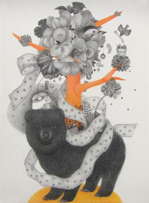 ささやかな支配(bear)     333×242㎜ 色鉛筆・紙