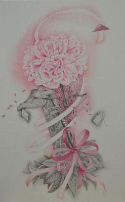 single flower-2/530×333㎜/M10/color pencil on paper/2014