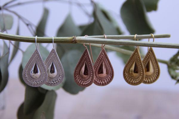 Ohrhänger Orientalisch Silber 925, Vergoldet & Rosé Vergoldet