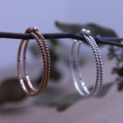 Ohrstecker Creolen Silber 925 & Rosé Vergoldet