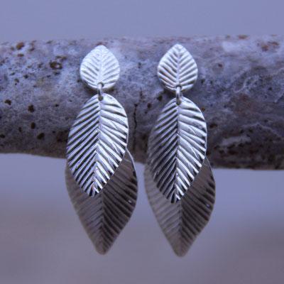 Ohrstecker Blätter Silber 925