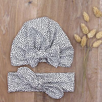 Turbanmütze & Stirnband mit Maschendetail