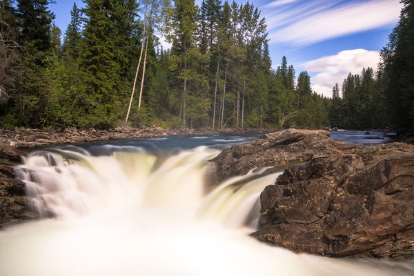 Mush Bow Falls, Wells Grey Park, British Columbia.