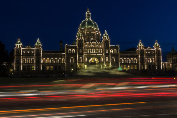 The British Columbia Parlament Building, Victoria, Vancouver Island.
