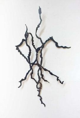 Crossroads - staal -  75 x 43 cm -  2017