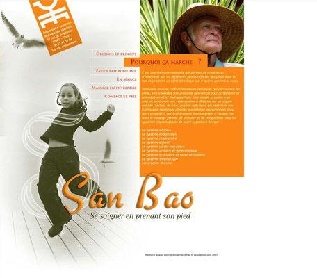 <h4>San Bao</h4><p>Site de réflexologie</p>