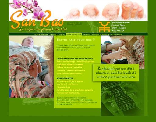 <h4>SanBao-2</h4><p>Site de réflexologie</p>