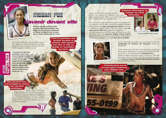 <h4>Megane Fox - Transformer<p>Réalisation complète d'un magazine sous licence</p>