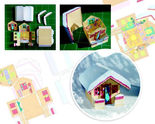 <h4>Une maison sous la neige</h4><p>Bricolage découpage Presse jeune public</p>