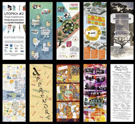 <h4>Coopérer pour L'Autre.Lycée</h4><p>Imaginez votre lycée utopique - Coordination graphique - Exposition -2020</p>