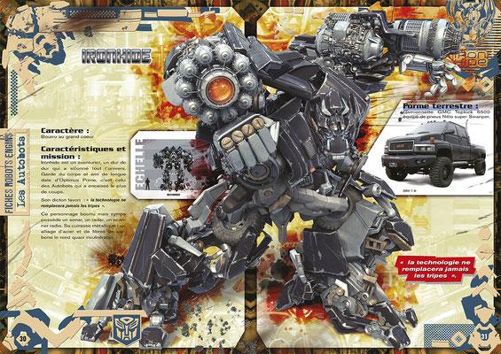 <h4>Fiche robot - Transformer<p>Réalisation complète d'un magazine sous licence</p>