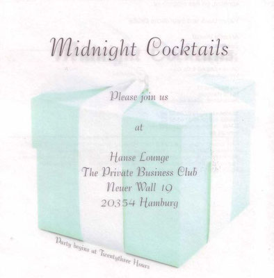 Tiffany & Co. Eröffnung Hanse Lounge Dinner