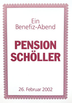 Benefiztheater Pension Schöller Pro Infantibus