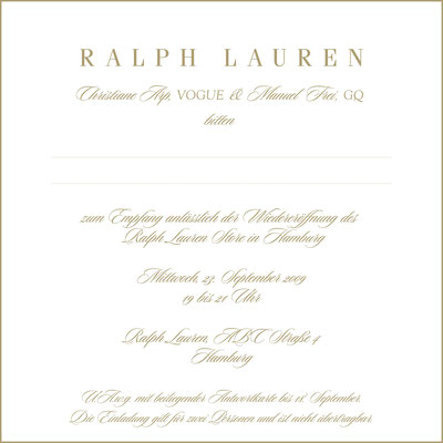 Ralph Laurent Polo Store Opening Hamburg