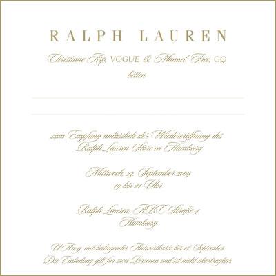 Ralph Laurent Polo Store Opening Hamburg