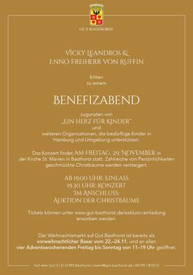 Gut Basthorst vorweihnachtliches Benefizkonzert Vicky Leandros